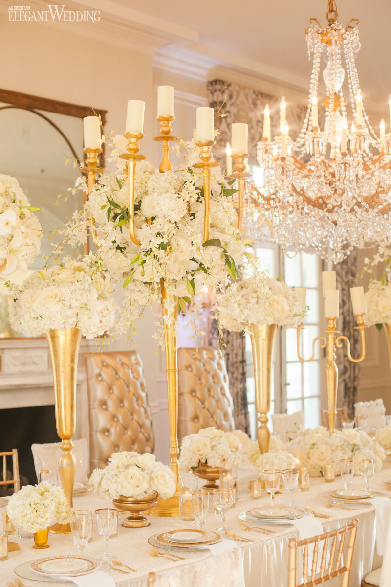 Gold Wedding Table Setting Planning Design Roshel Event Decor Carolina S Luxury Als Photography Casey Hendrickson