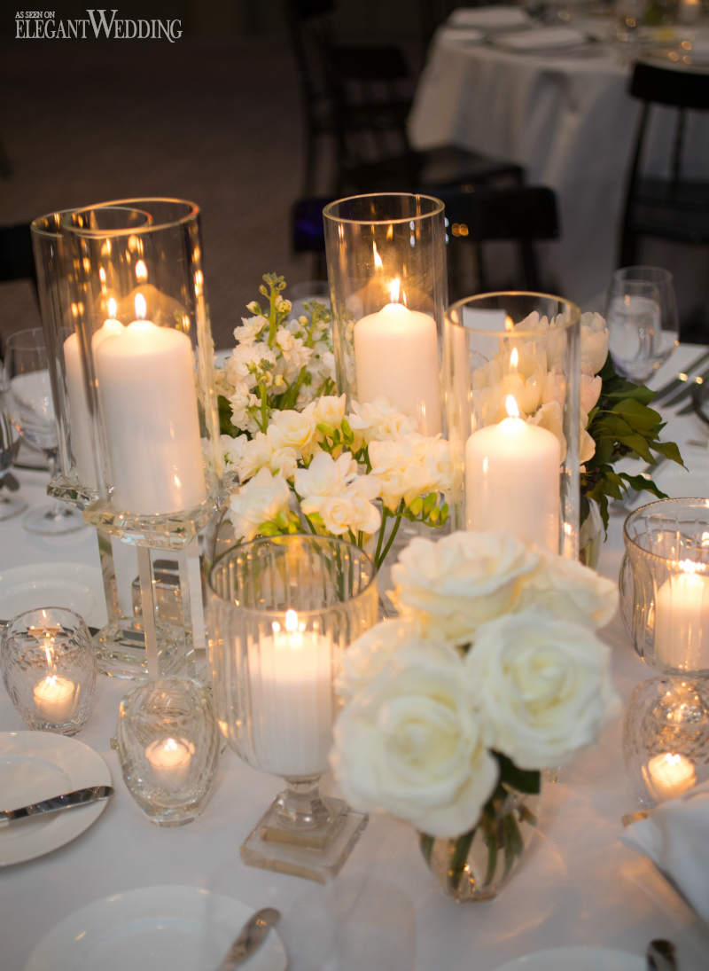 Contemporary wedding filled with candles elegantwedding