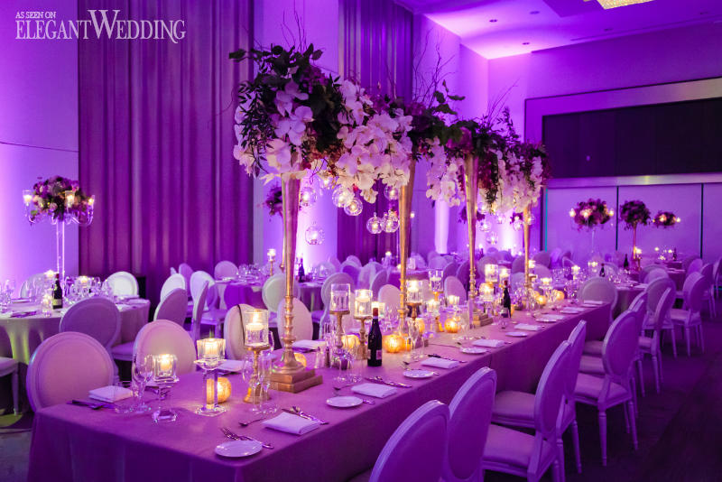 Glamorous Gold & Purple Wedding Theme | ElegantWedding.ca