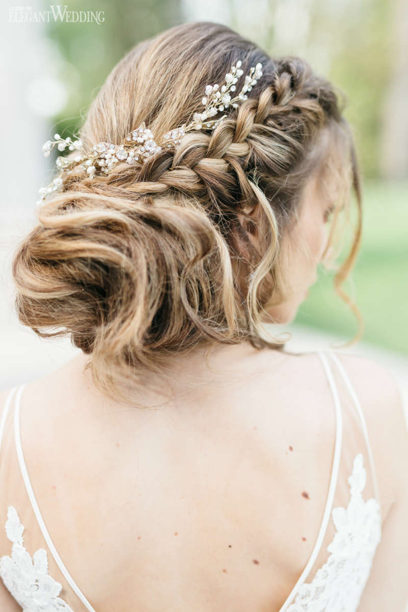 French Braid Bridal Updo
