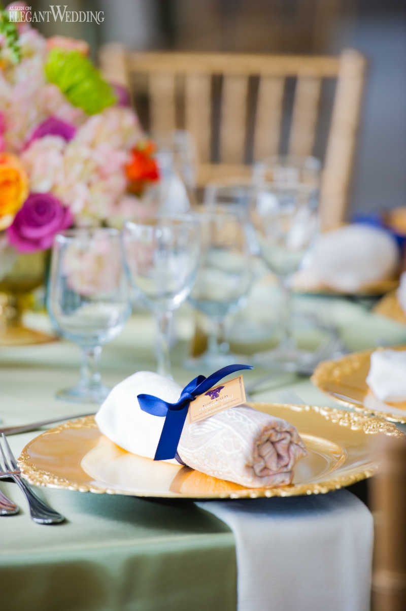 Navy and Gold Place Setting
