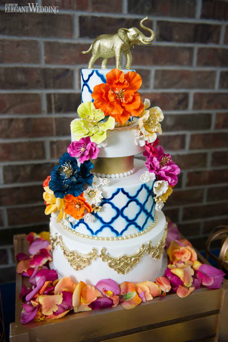 Vibrant Bridal Shower Cake