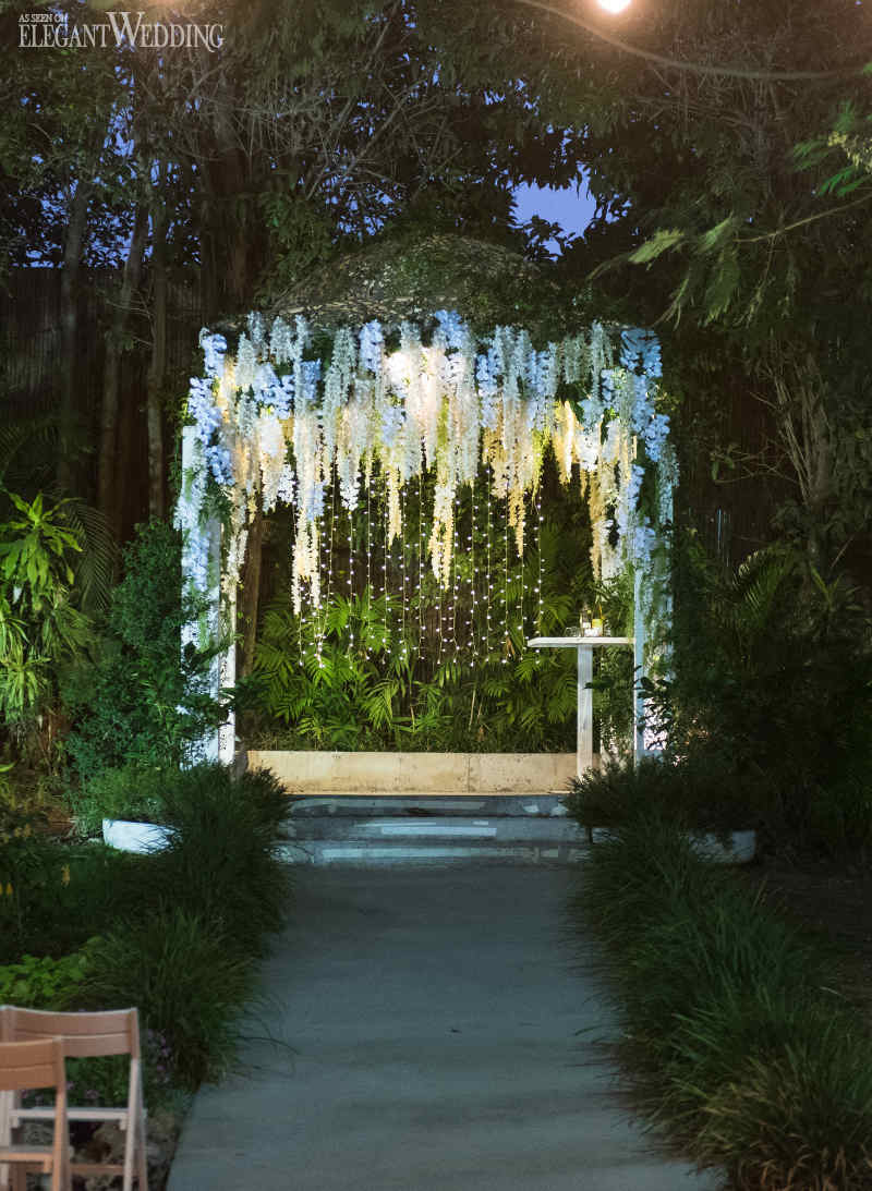 White Flower Wedding Arch