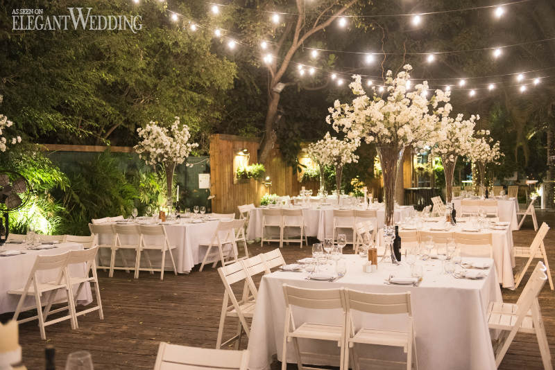 String Light Wedding Tables