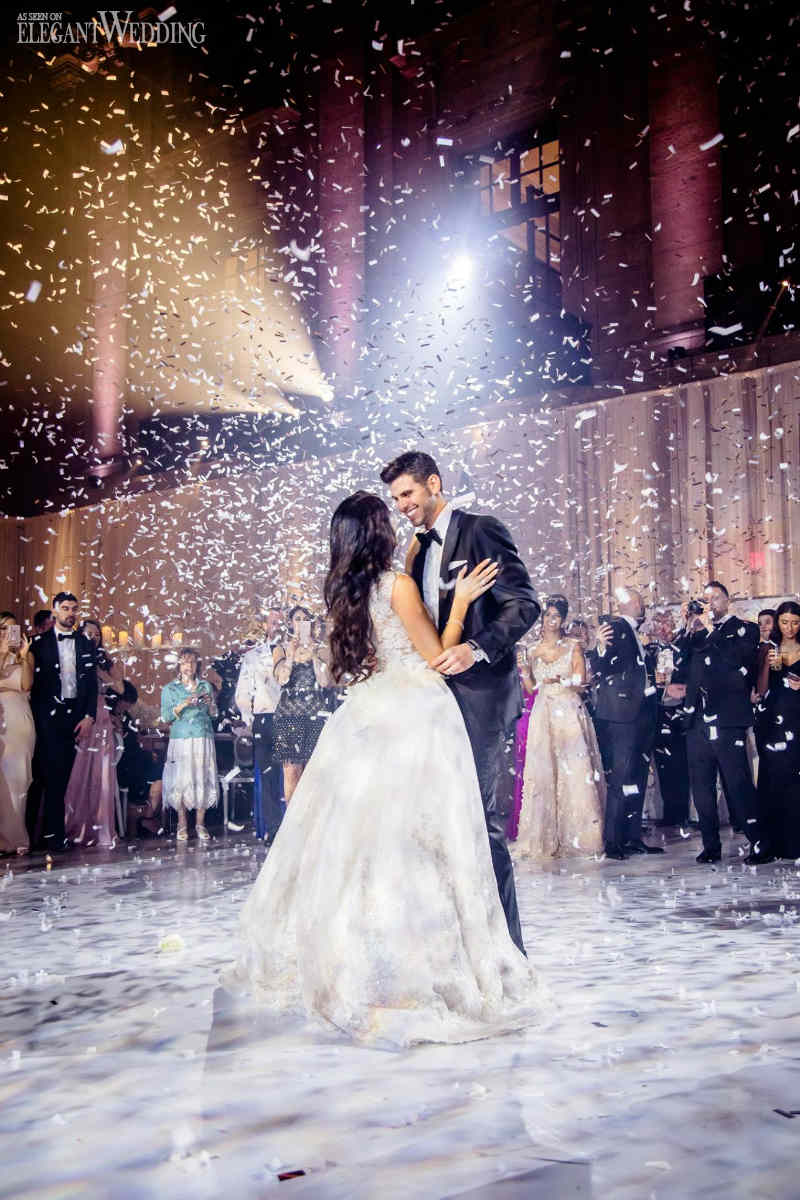 Raining Confetti Wedding Dance | Magnolia Photo Studio