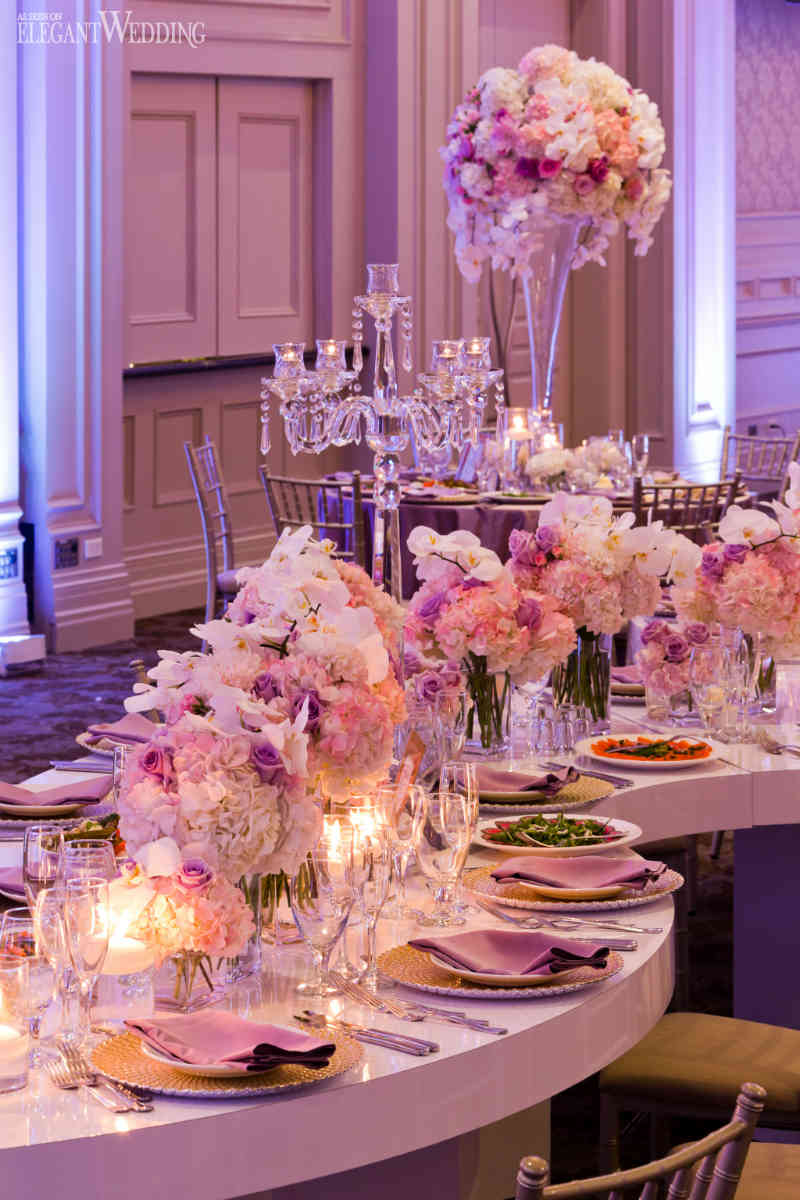 Beautiful Pink and Purple Wedding | ElegantWedding.ca