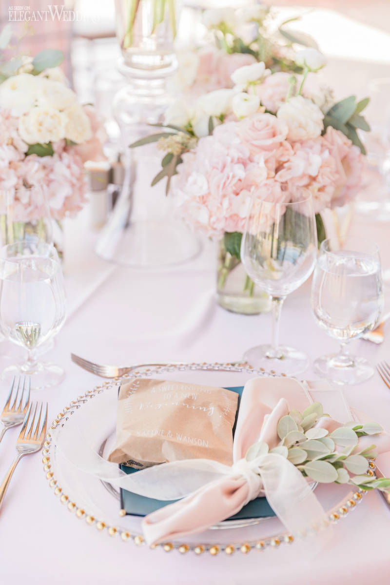 Pink Hydrangea Wedding Flowers