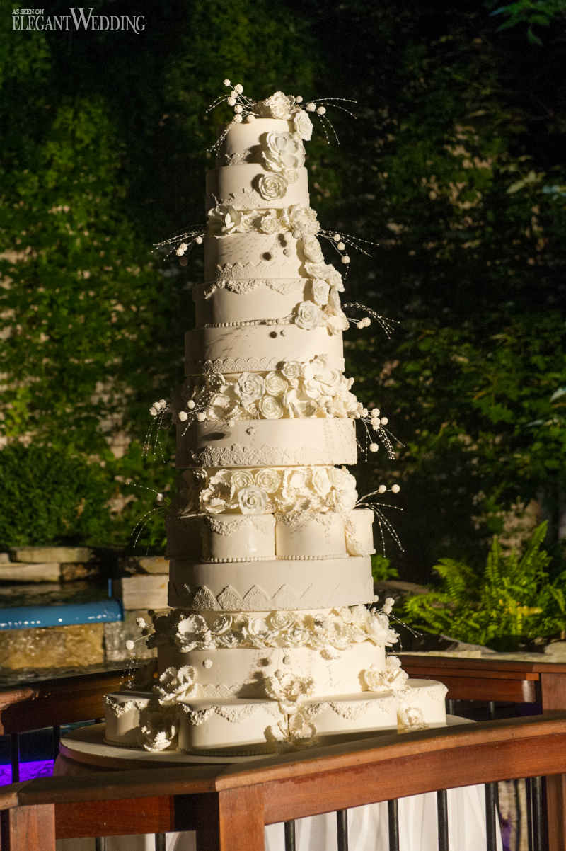 10 Tier White Wedding Cake
