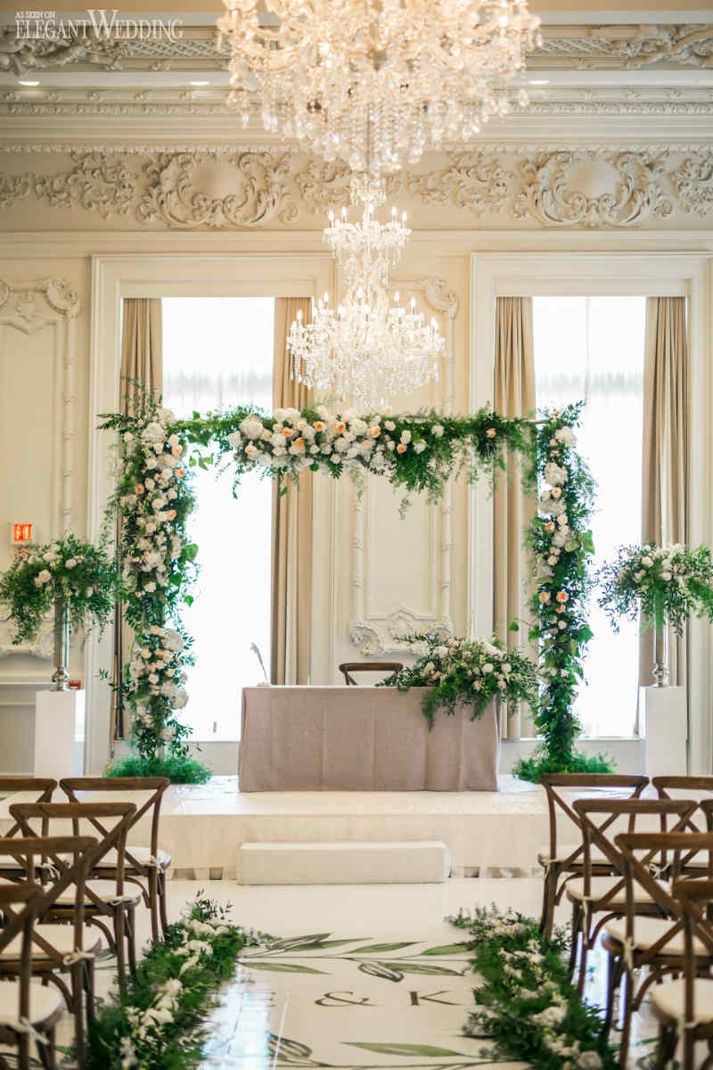 Greenery Wedding Ceremony