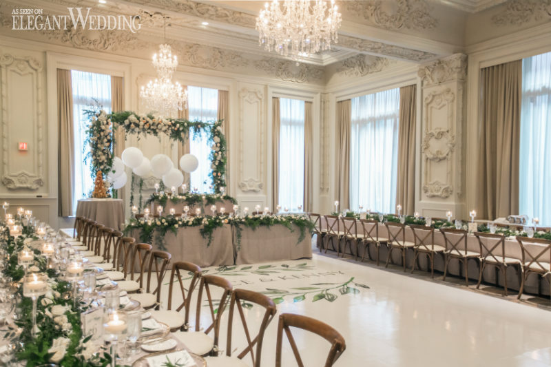 Greenery Head Table Arch