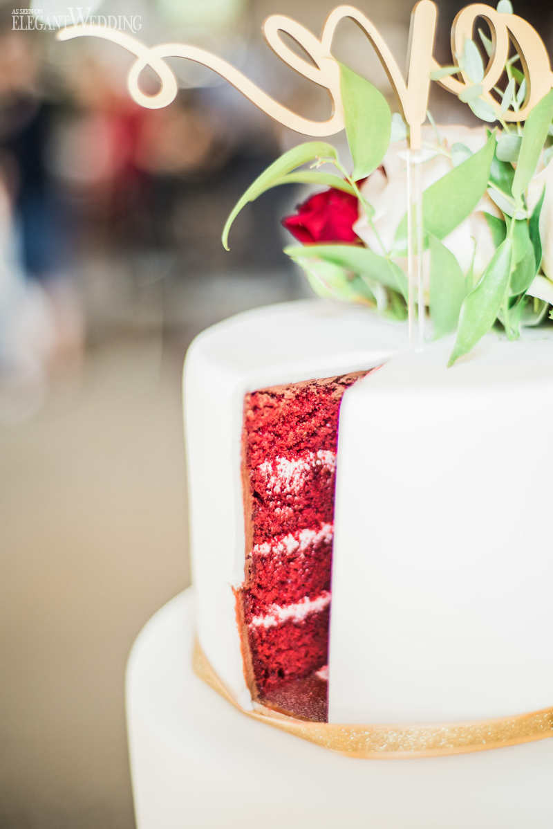 Red Velvet Bridal Shower Cake