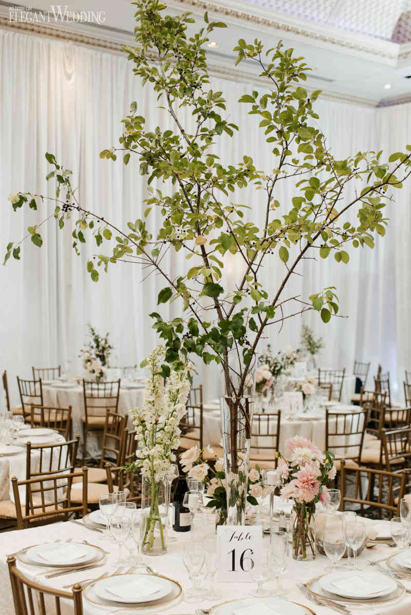 Greenery Tree Wedding Centrepieces