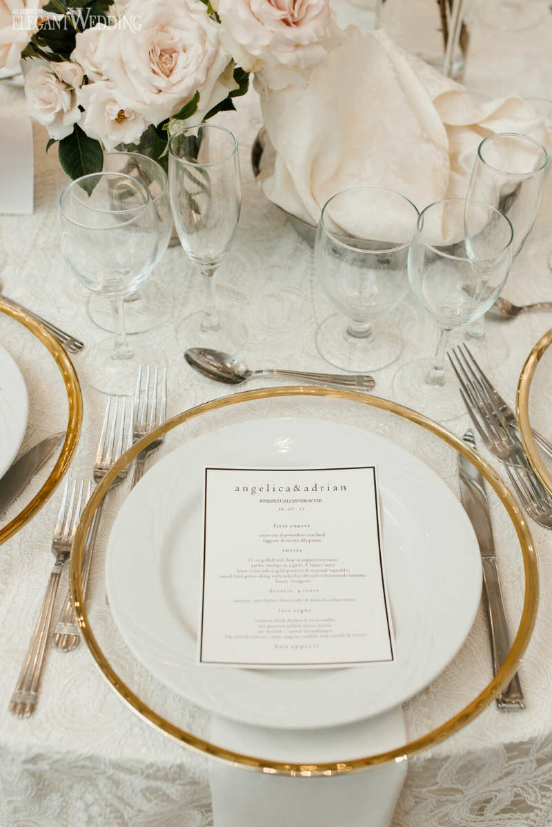 Gold Rimmed Tableware
