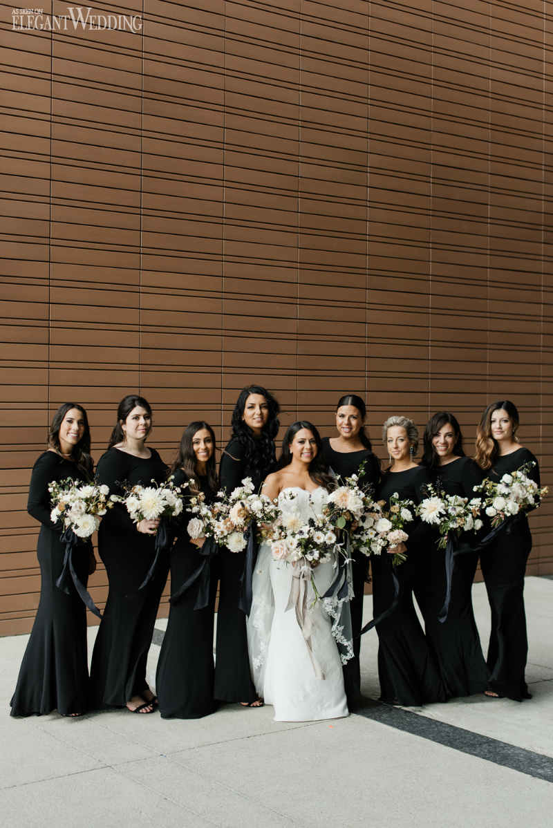 Velour Black Bridesmaids Dresses