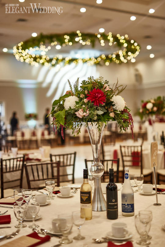 Red and Green Wedding Flowers