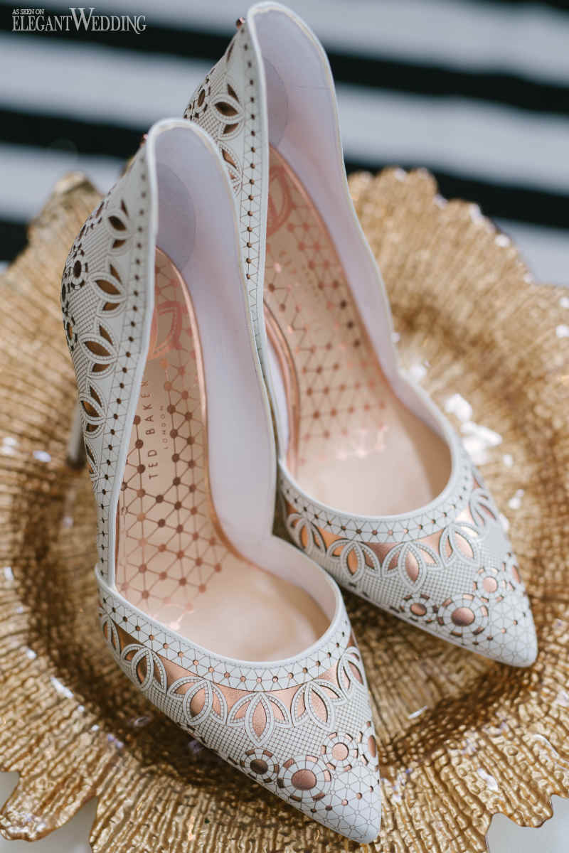 Laser Cut Wedding Shoes