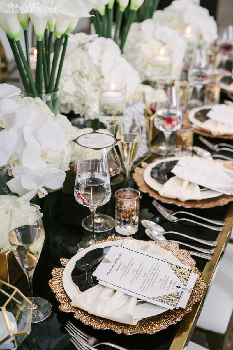 Art Deco Wedding Table Setting