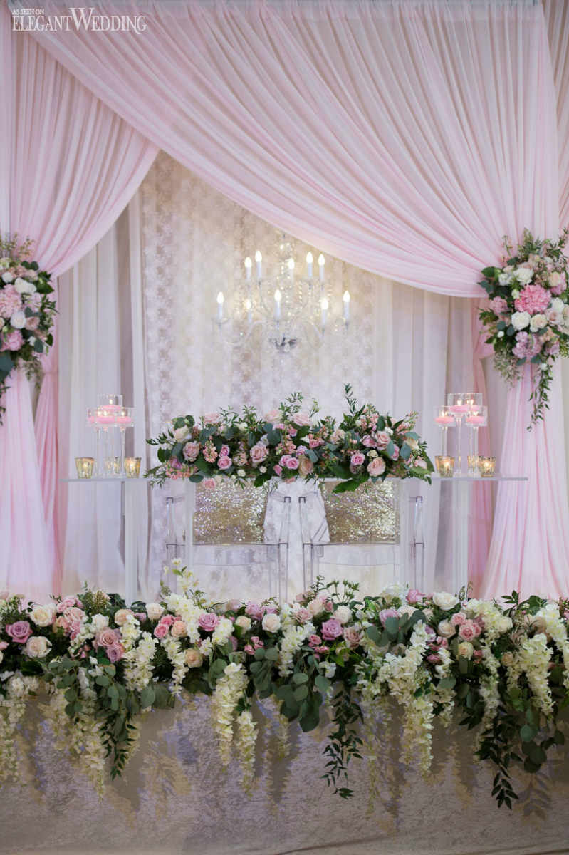 Cascading Wedding Centrepieces