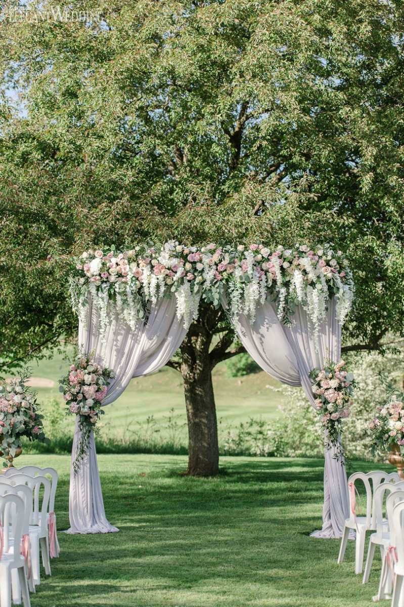 Blush Wedding Ceremony Arch