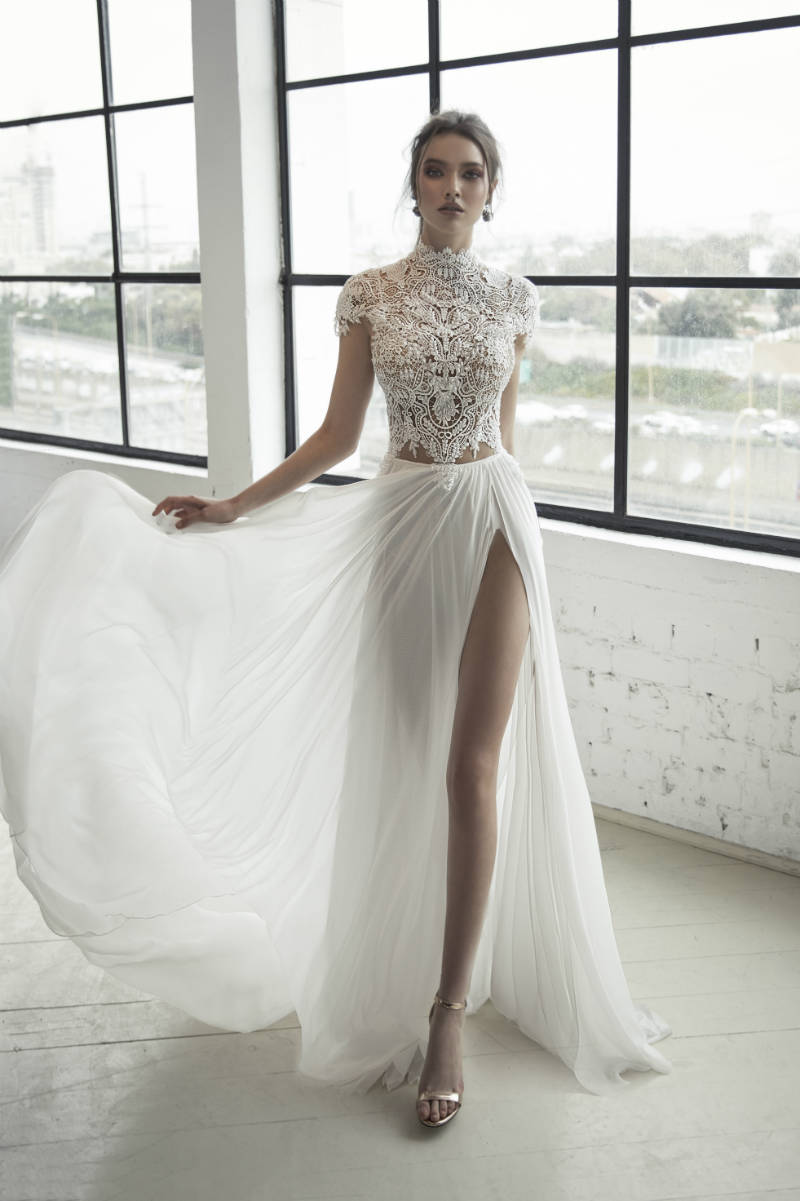 Hollywood Slit Wedding Dress