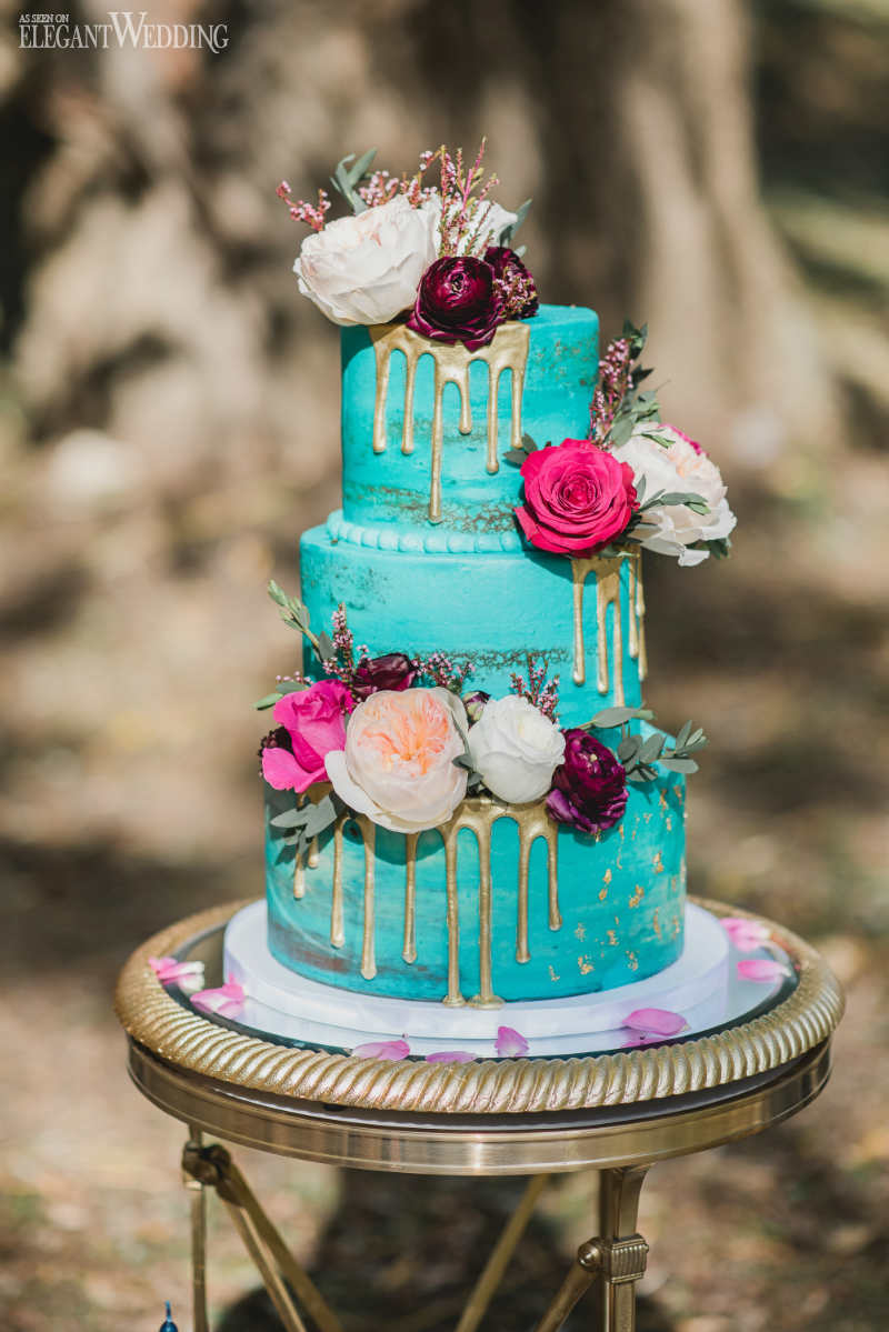 Dripped Wedding Cakes