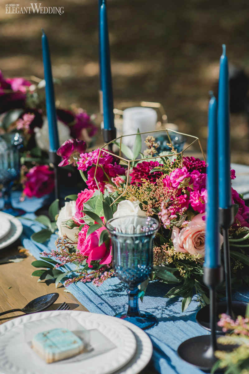 Blue Wedding Centrepiece Ideas