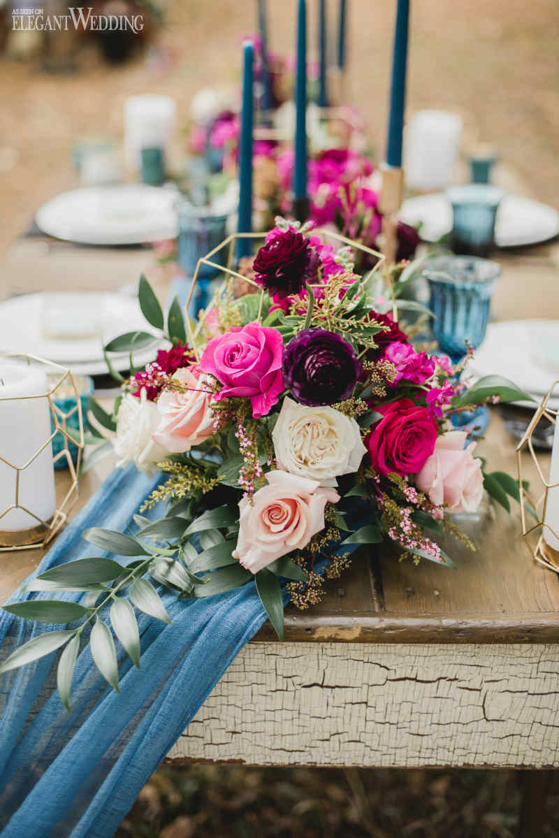 Geometric Wedding Centrepieces