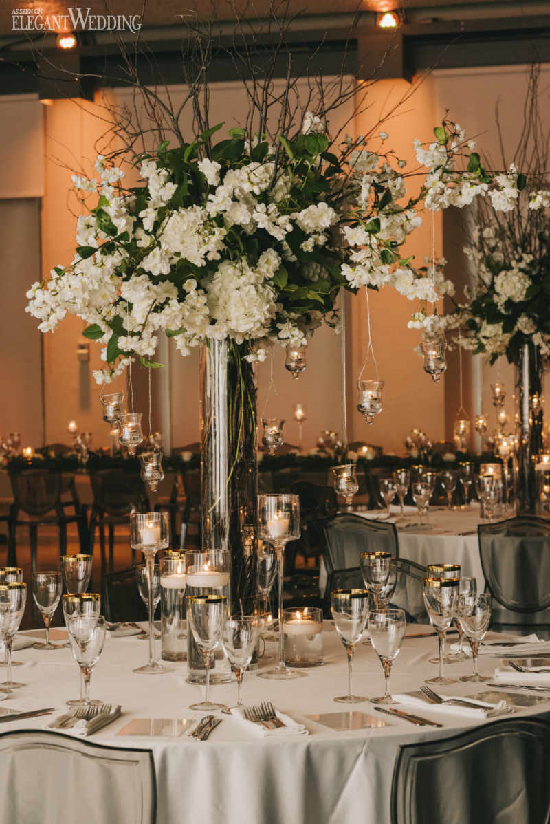 Tall Greenery Centrepieces