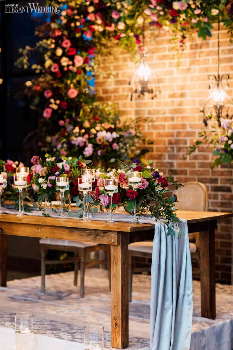 Moody Wedding Table Setting