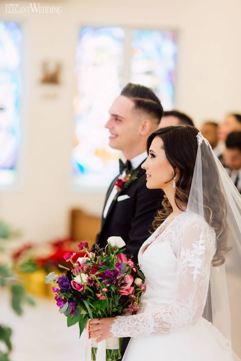 Winter Church Wedding Ceremony