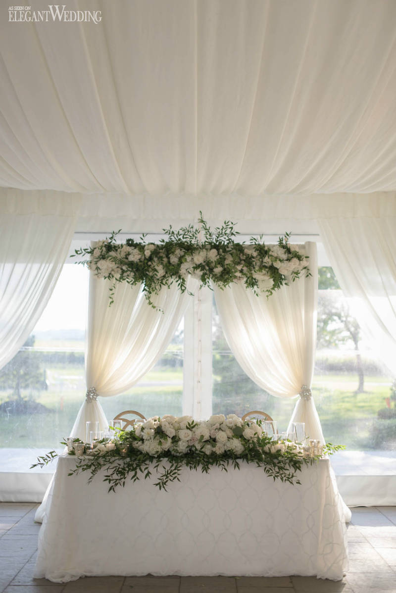 Draped Arch Sweetheart Table
