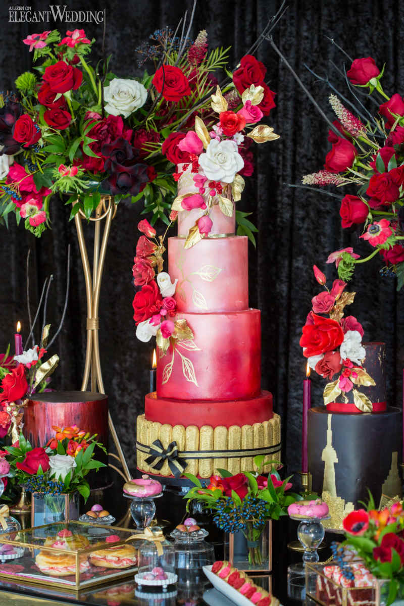 Red Wedding Sweet Table