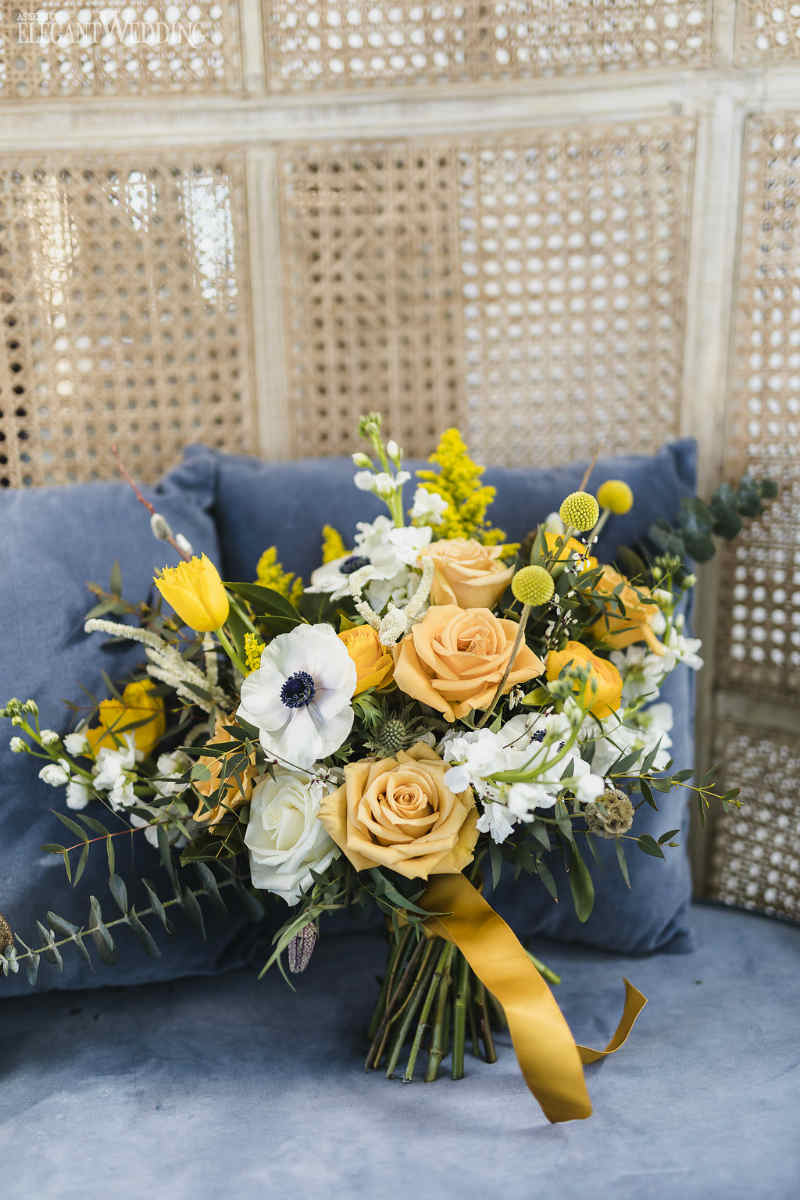 Yellow Wedding Bouquet Inspiration