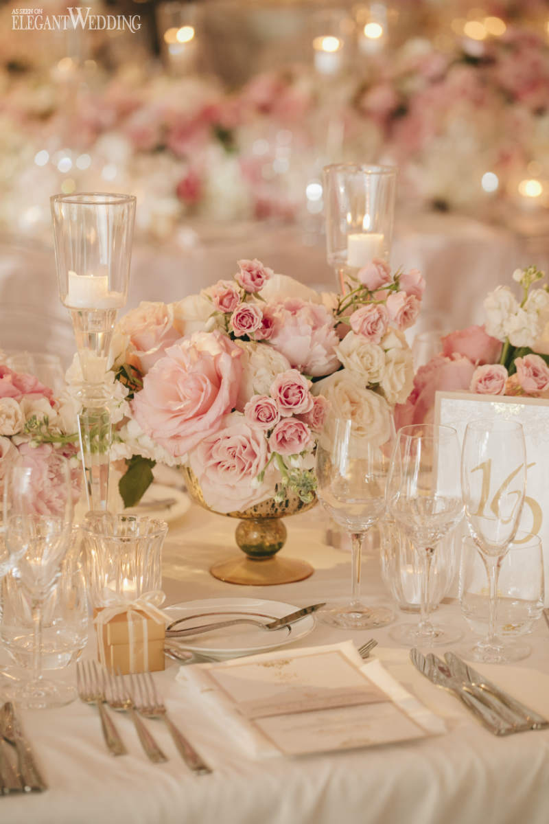 Small Pink Wedding Centrepieces