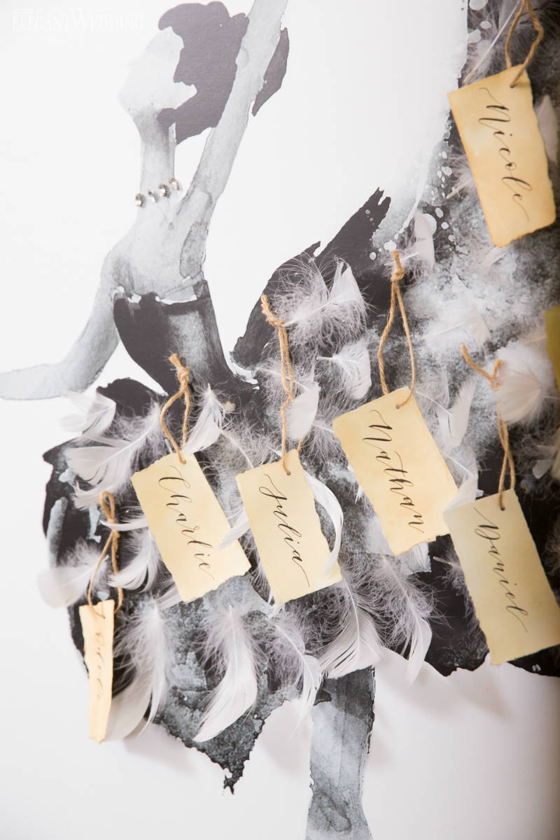 Ballet Wedding Name Tags