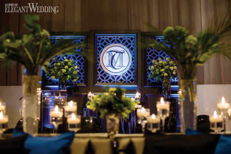 Sleek Blue Gold Black Wedding Theme Elegantweddingca