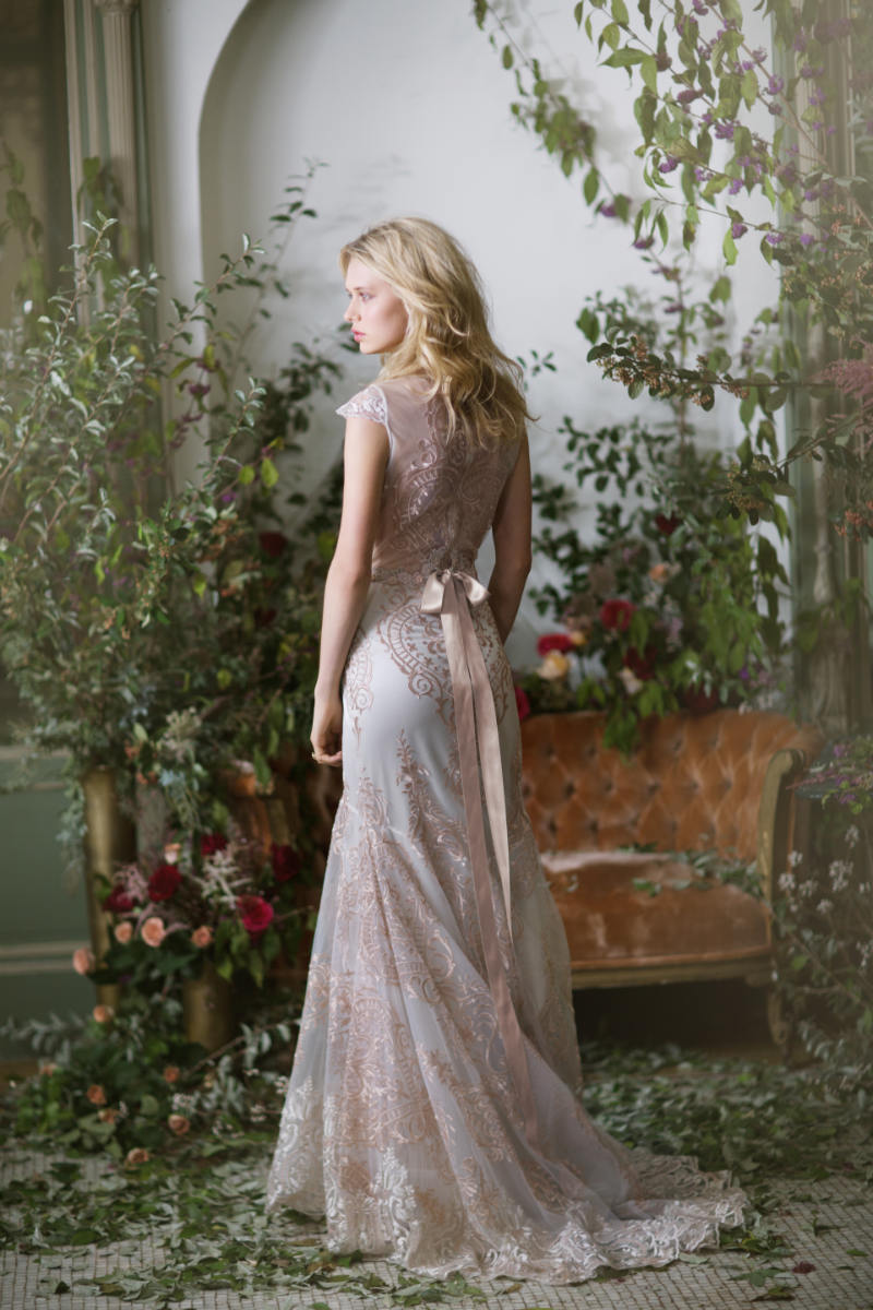 Claire pettibone f w 2016 the gilded age for Antique rose wedding dress