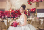Ballerina Wedding style shoot with bride wearing a hayley pagie gown