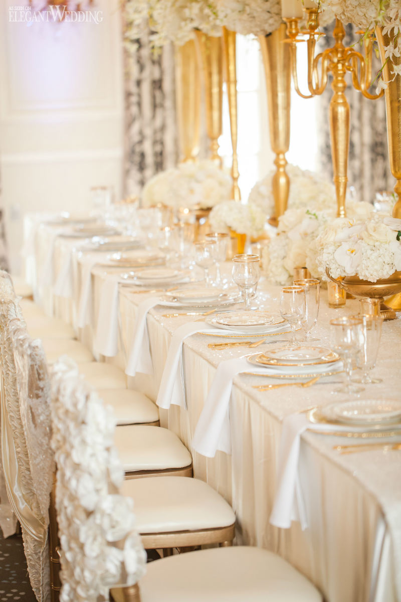 Glamorous Gold and Ivory Wedding Theme | ElegantWedding.ca