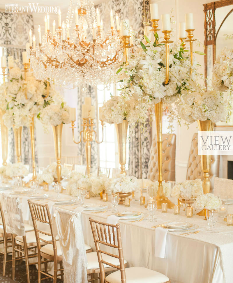 glamorous gold wedding table