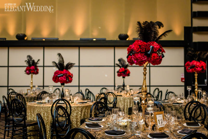 Old Hollywood Wedding Flowers and Decor