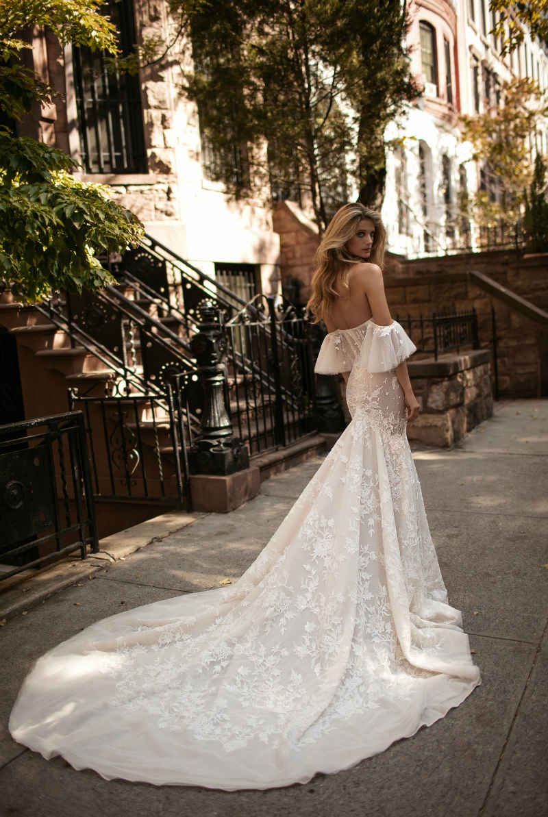 Off The Shoulder Wedding Dress By Berta
