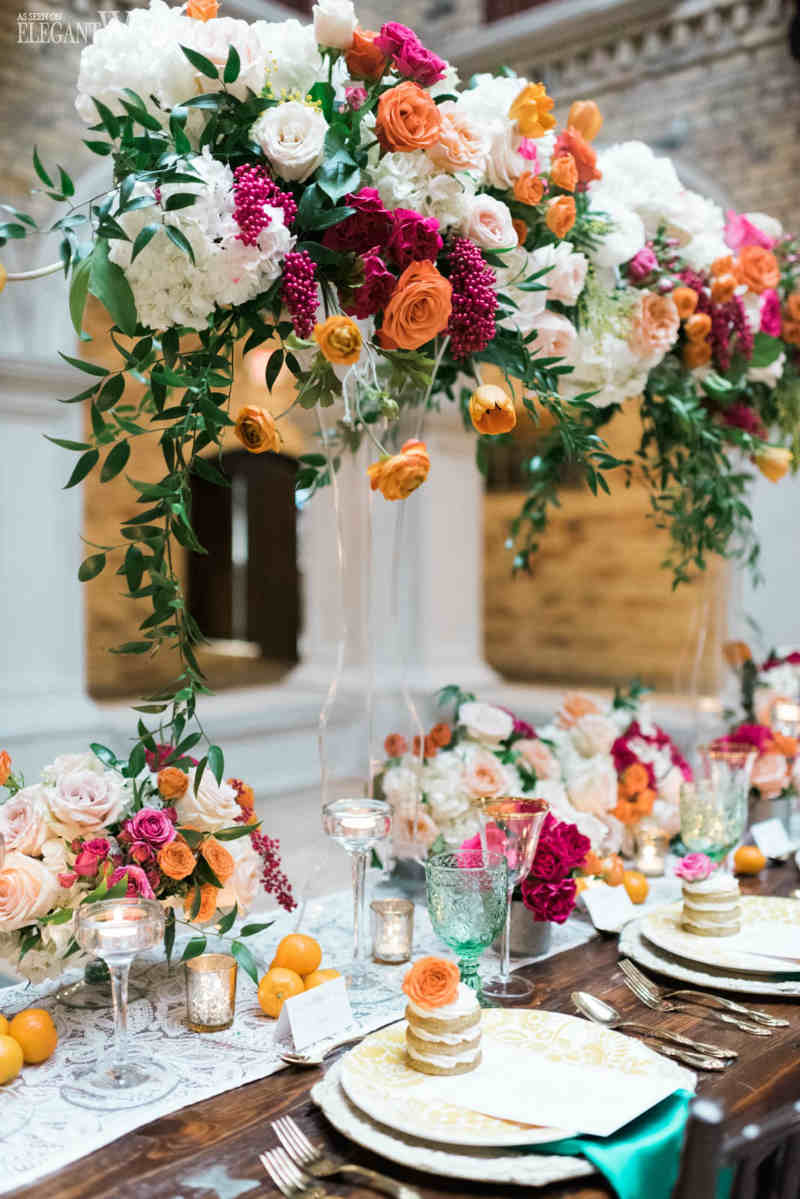 Spanish Style Wedding Centrepieces