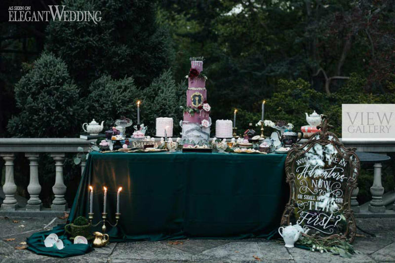 Dark Alice In Wonderland Wedding Inspiration