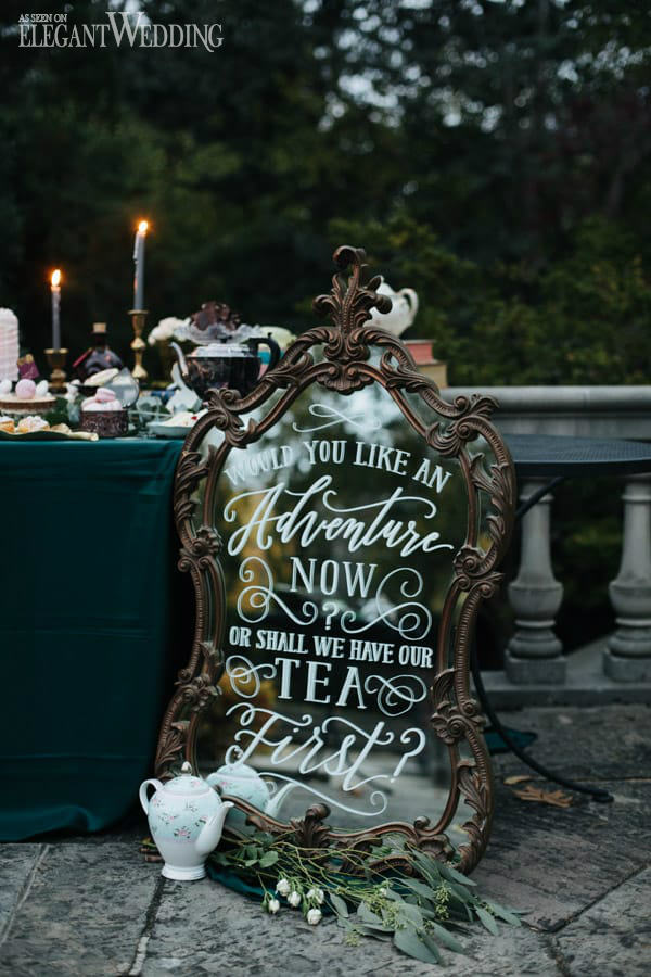 Alice In Wonderland Wedding Decor