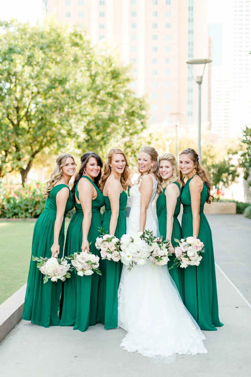 27bbb1c50ec Unique Bridesmaid Dress Ideas. Hot Pink Bridesmaids Dresses