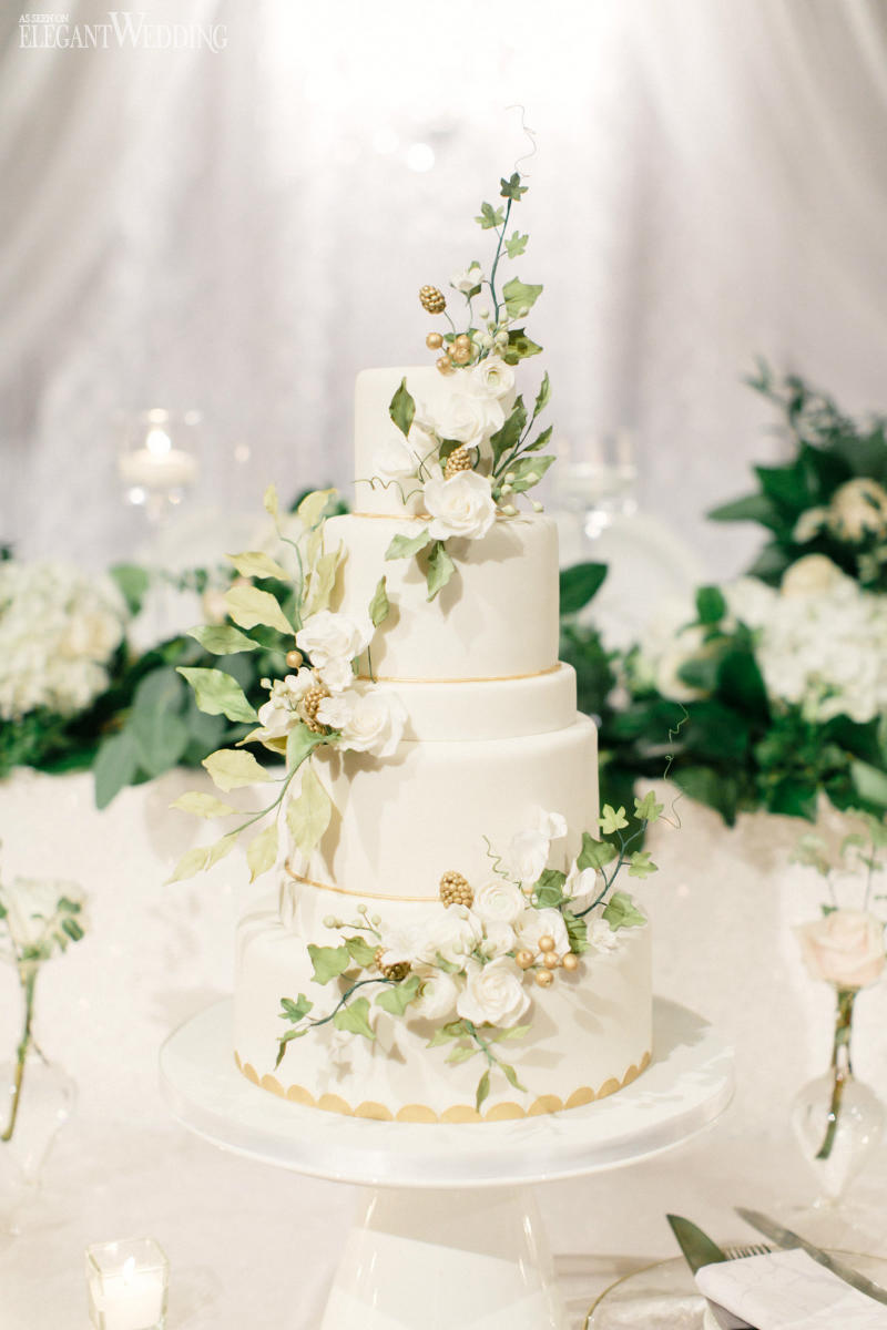 Greenery Wedding Cakes