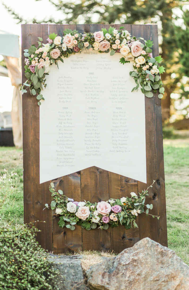 Floral Seating Chart Ideas
