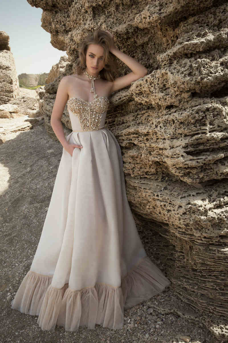 Blush and Gold Wedding Dresses