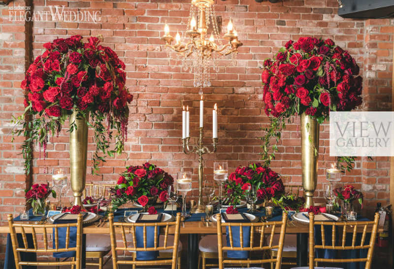 Rich Red And Gold Wedding Ideas Elegantweddingca